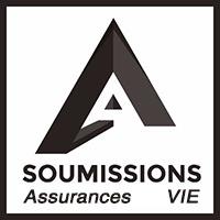 : Le logo de soumissionsassurances pour l'assurance vie sans examen médical.